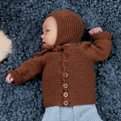 Going Garter Cardi and Bonnet - basic knits for the baby.