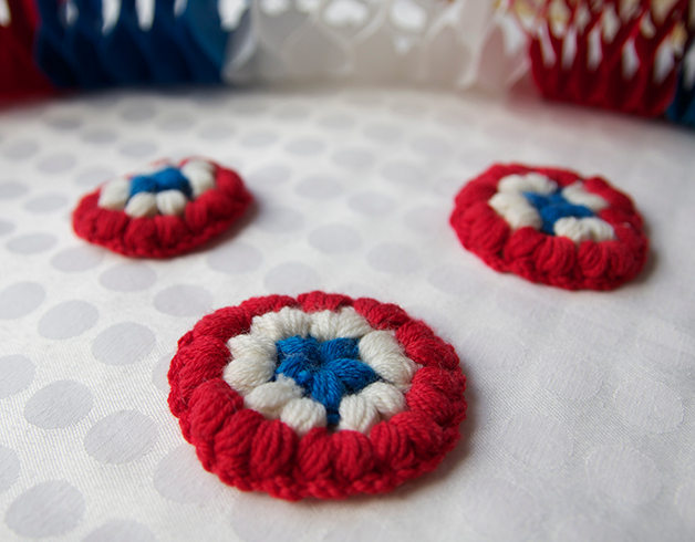Pickles National Day Brooch Free Crochet Pattern