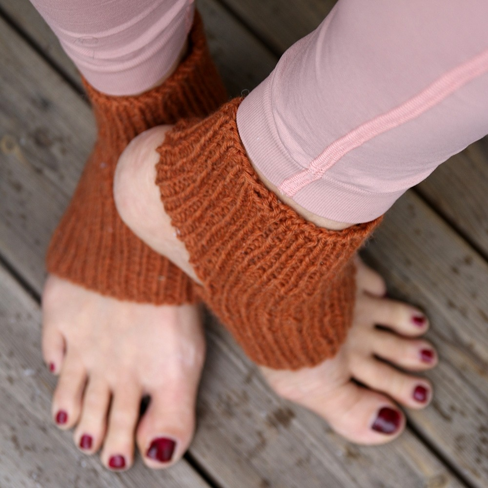 The Mountain Yoga Socks - knitted socks for yoga