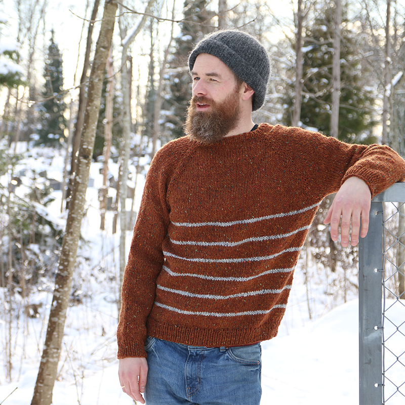 Winter Sailor Sweater -A classic raglan sweater with stripes