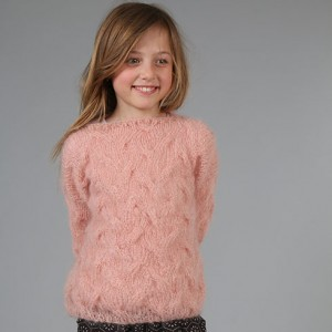 Fuzzy Cable Sweater