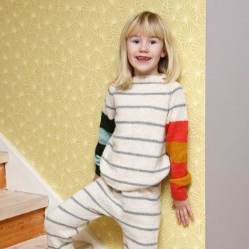 STRIPE / Long Johns and Sweater (kids)