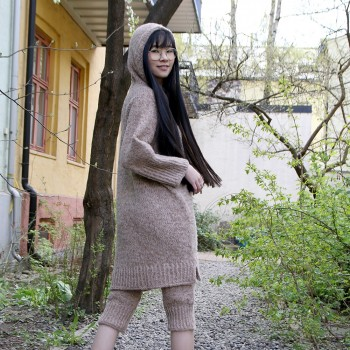 Hush | hooded dress and tights